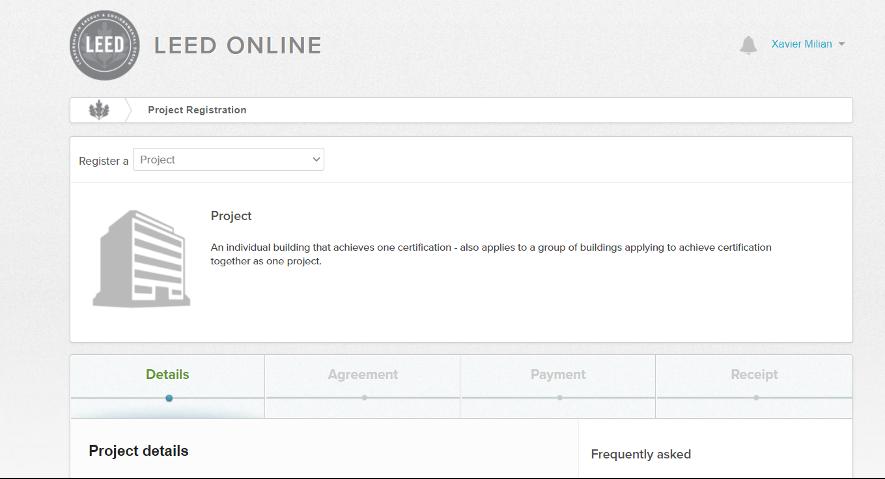 registro leed online